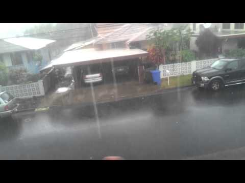 Raining in Waipahu, Hawaii