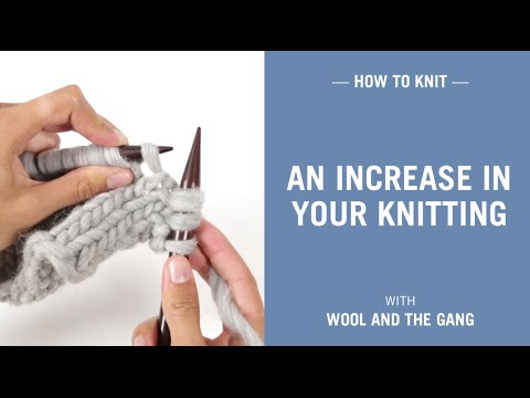 How to make an increase in your knitting (m1l, make 1 left)
