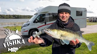 Поездка на рыбалку на Автодоме Поймал судака Лещ на воблер Дом на колёсах Рыбалка в Финляндии
