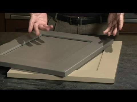 Ideas For Painting Kitchen Cabinets With Dark Gray U0026 Tan Paint : Kitchen  Plans   YouTube