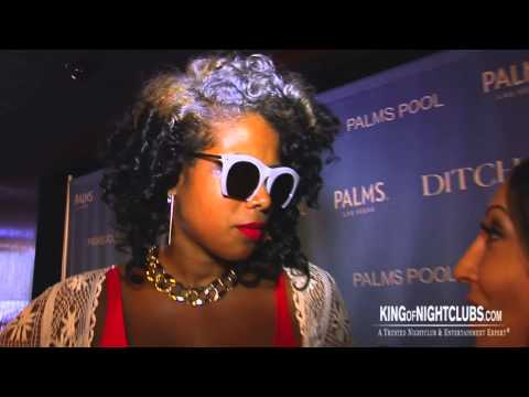 Kelis on the red carpet at the Palms Hotel and Casino 2013
