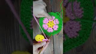 아크릴로 꽃수세미짜기