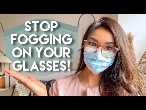 HOW TO STOP FOGGING ON YOUR GLASSES WHILE WEARING MASK - YouTube