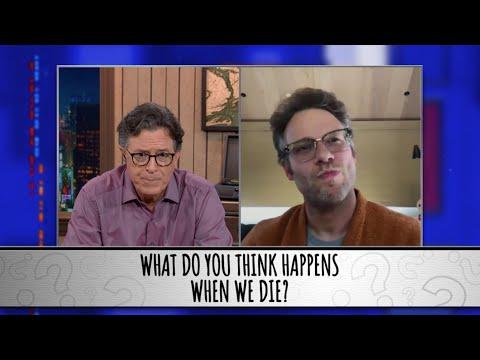 Seth Rogen Takes The Colbert Questionert