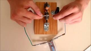 Fabrication d'un moteur électrique - Explications et commentaires