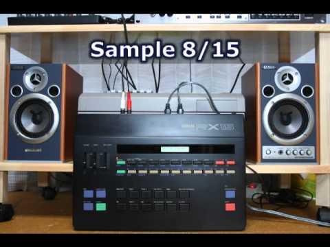 YAMAHA RX15 Drum Machine Sound Check / Some Rhythm Patterns