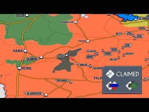 Подробная карта боевых действий в Сирии Министерства