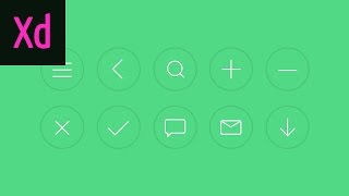 How to Draw 10 Icons in Adobe XD