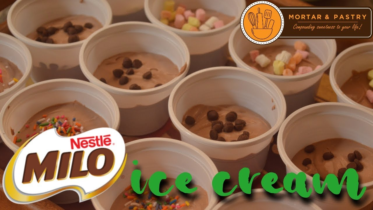 Milo ice cream how to make easy 3 ingredient no churn ice cream milo ice cream how to make easy 3 ingredient no churn ice cream ep17 mortar pastry ccuart Choice Image