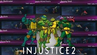 Injustice 2: Teenage Mutant Ninja Turtles All Unlockable Abilities