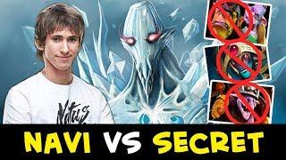 NaVi first REAL TEST vs Secret — Dendi mid AA vs 10 slot Alchemist