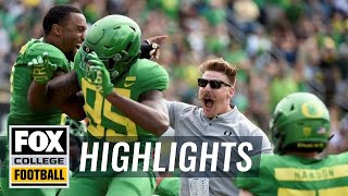 Oregon vs Portland State | FOX COLLEGE FOOTBALL HIGHLIGHTS