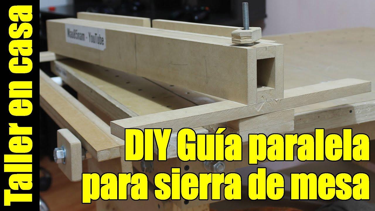 Diy sierra de banco parte 2 6 guia paralela rip fence - Sierra de banco ...