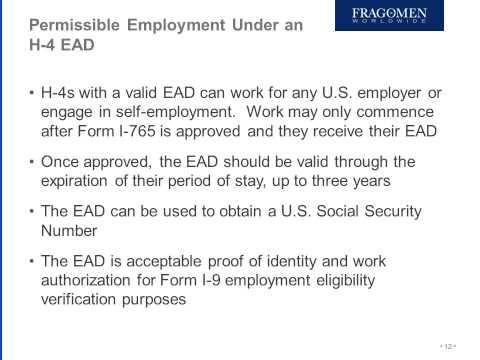 Upwardly Global   Fragomen H4 Work Authorization Webinar