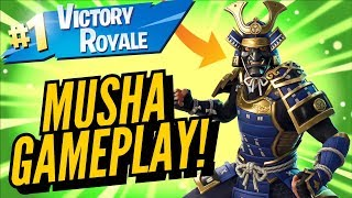 MUSHA Skin Gameplay! In Fortnite Battle Royale