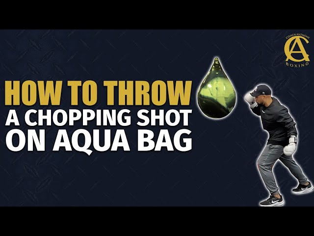 How to throw a chopping shot on the Aqua Bag! [ Overhand with angle ]
