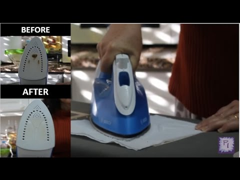 Easiest way to clean a dirty iron