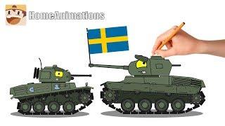 Рисуем шведские танки - Мультики про танки