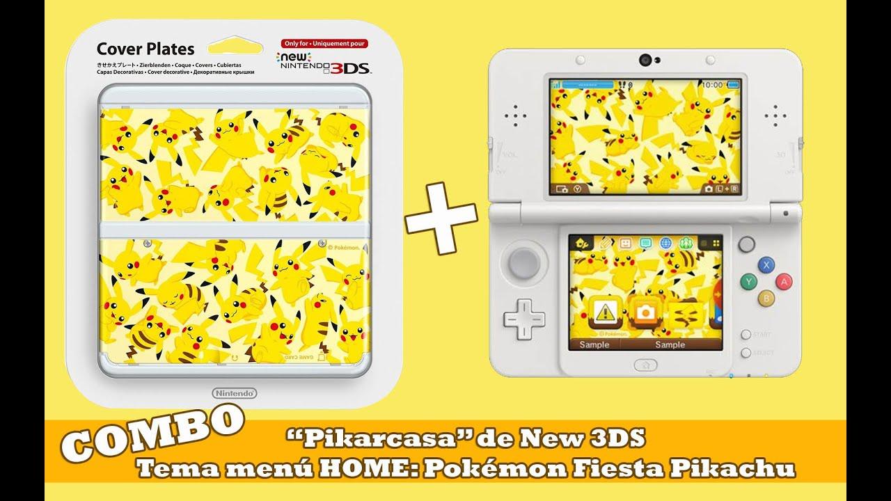 Unboxing Pikarcasa New 3ds Tema Men 250 Home Pok 233 Mon Fiesta Pikachu Youtube