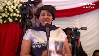 Ruth Mwaniki REMARKS  at JOSEPH KAMARU funeral service BURIAL