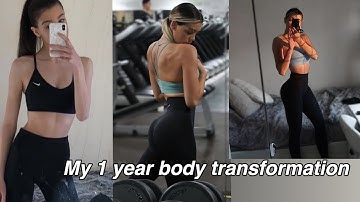 1 year body transformation
