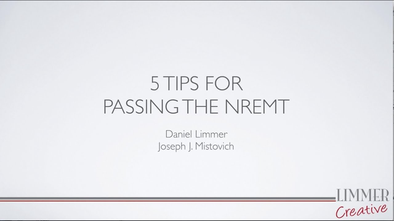 5 tips for passing the nremt youtube 5 tips for passing the nremt xflitez Images