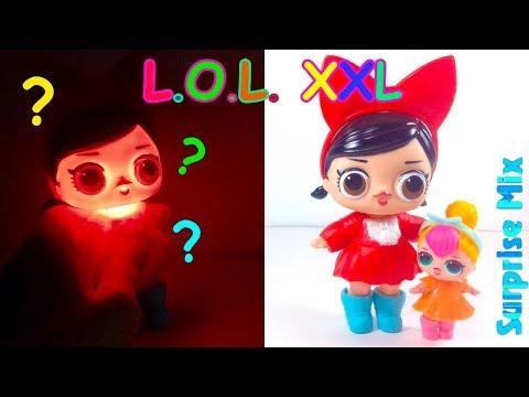 ОГРОМНАЯ Кукла LOL размера XXL - СВЕТИТСЯ В ТЕМНОТЕ Китайская ПОДДЕЛКА ЛОЛ. GIANT LOL doll FAKE