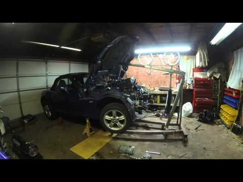 BMW Z3 Engine Swap Timelapse M52TU 2.8 GoPro - YouTube