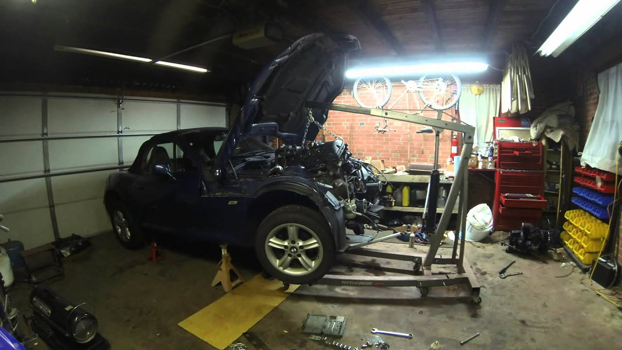 Bmw Z3 Engine Swap Timelapse M52tu 2 8 Gopro Youtube