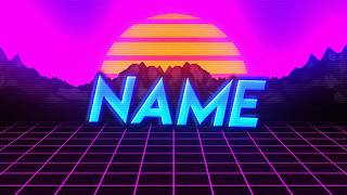 Plantilla de intro GRATIS tipo 80's | FREE 80's type intro template (After Effects)