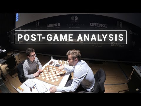Carlsen and Caruana Analyze Their Game | GRENKE Chess Classic 2019