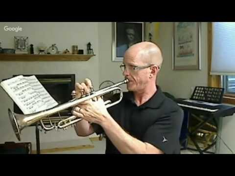 how to play trumpet notes