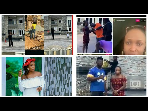 Popular blogger Blessing Okoro in bitter tears as she got arrested by Onyeze for claiming his duplex
