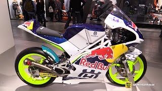 2015 Husqvarna FR 250 GT Moto3 Racing Bike - Walkaround - 2014 EICMA Milan Motorcycle Exhibition
