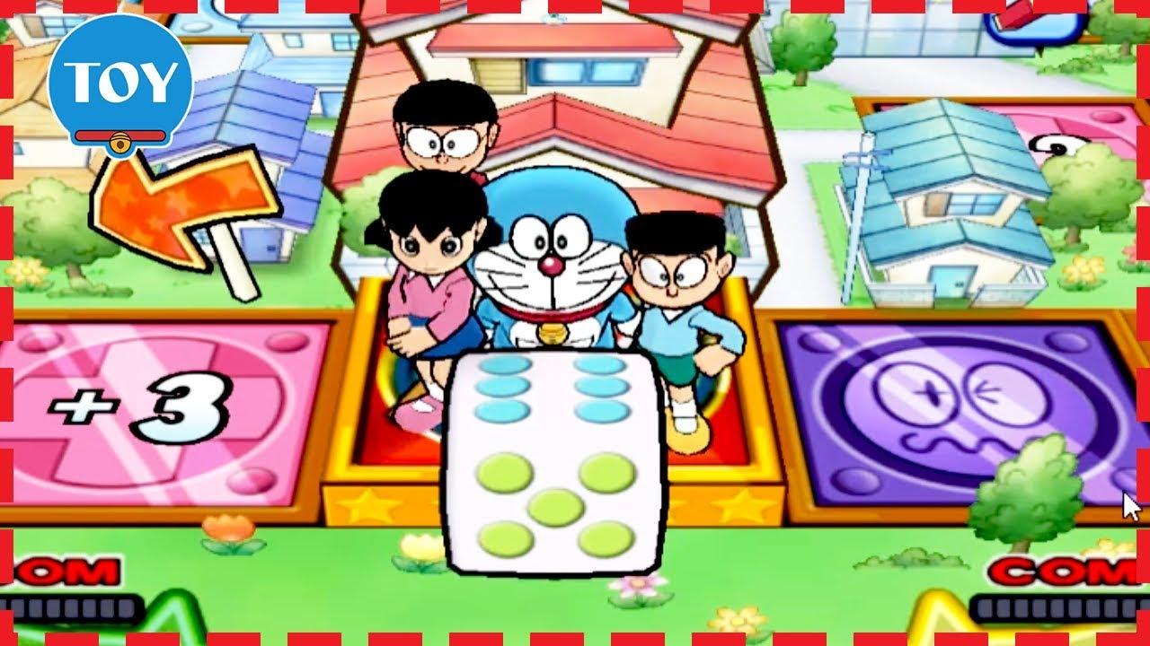 Chơi Doraemon Wii 3D lồng tiếng #2 Nobita thi đập bong bóng Xuka Xeko câu cá cu lỳ chơi game