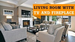 60+ Multifunctional Modern Living Room Designs with The TV and Fireplace