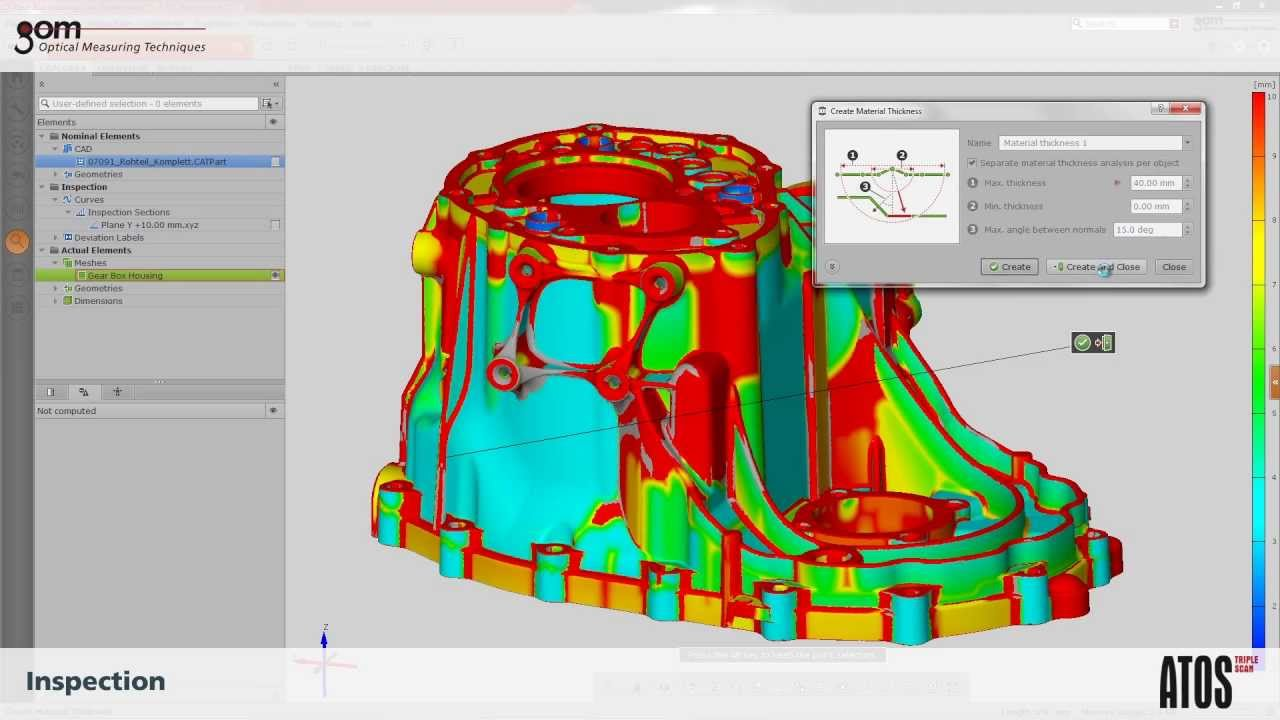 Capture 3D Blue Light Scanner - ATOS Triple Scan - Precision Inspection of  Casted Parts