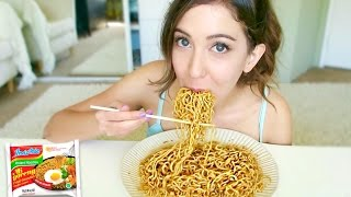 INDONESIAN NOODLES MUKBANG! Indomie Goreng Eating Show
