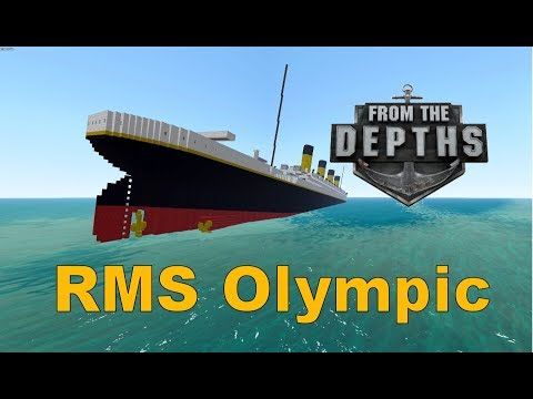 From the Depths! Sinking the RMS Olympic (Minecraft Design)