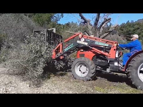 1 Μαζεμα κλαδιων με τρακτερ πατεντα- MF394F