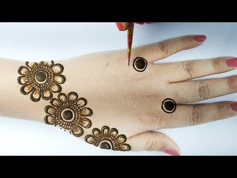 Easy Bridal Mehndi Design Front Hand - Latest Easy Arabic Mehndi - आसान अरेबिक मेहँदी लगाना सीखे -