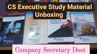 Unboxing Of CS Executive New Syllabus Study Material || For June 2021 Examination
