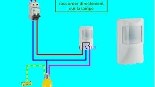 schema branchement cablage détecteur de mouvement