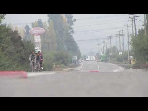 Ciclistas, Bus, Autos, Limache-Olmué 2013