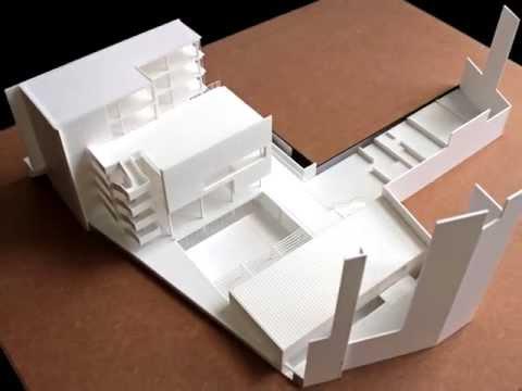 Maqueta de arquitectura. Proyecto de Biblioteca