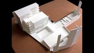 Maqueta de arquitectura. Proyecto de Bib...