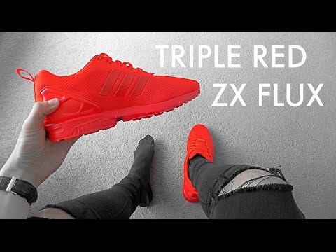 release date: ed02e a182a ADIDAS TRIPLE RED ZX FLUX | MIADIDAS (Red October ...
