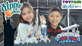 Dippin' Dots & Skylanders Cookie Crisp Cereal! Journey to the 2015 New York Toy Fair!