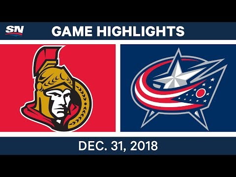 NHL Highlights | Senators vs. Blue Jackets - Dec 31, 2018