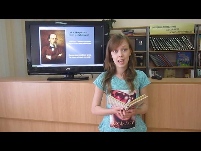 Изображение предпросмотра прочтения – АнастасияБабаскина читает отрывок изпроизведения «Крестьянские дети» Н.А.Некрасова